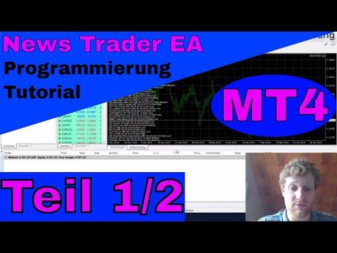 Automatisiertes News Trading mit MT4 Expert Advisor - Tutorial Teil 1