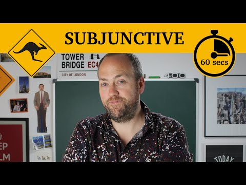 The subjunctive | 60-second grammar | Canguro English