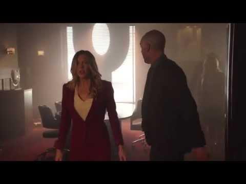 Arrow 3x11 - Laurel stabs someone with her heel