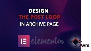 Design post loop-insider-post-Archiv in Elementor - How, um eigene post-loop-design