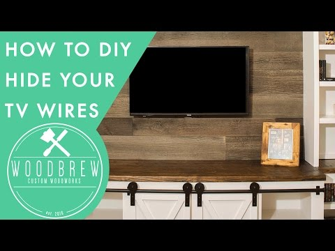 Hide Your TV Wires With This Simple Hack In 30min! | Woodbrew