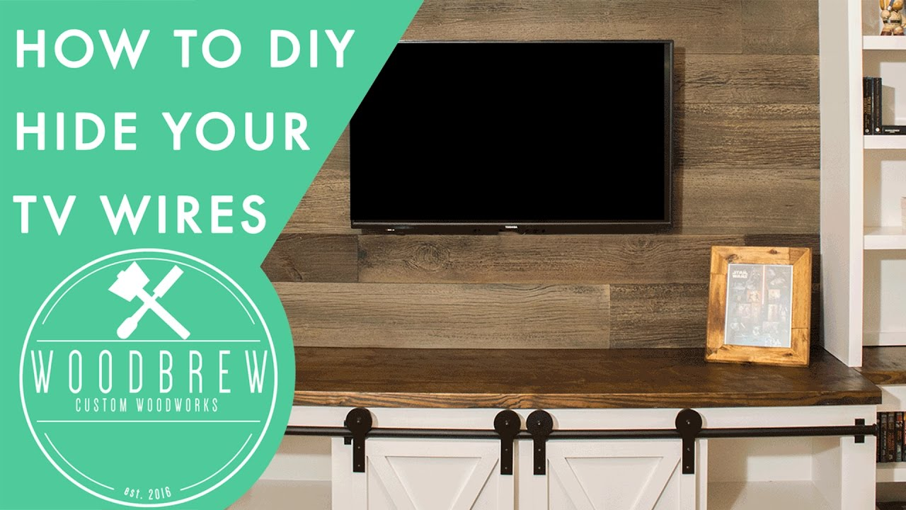 hide your tv wires with this simple hack in 30min woodbrew youtube. Black Bedroom Furniture Sets. Home Design Ideas