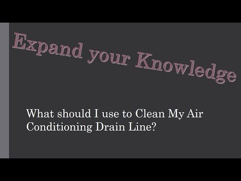 What should I use to Clean My AC Drain Line?