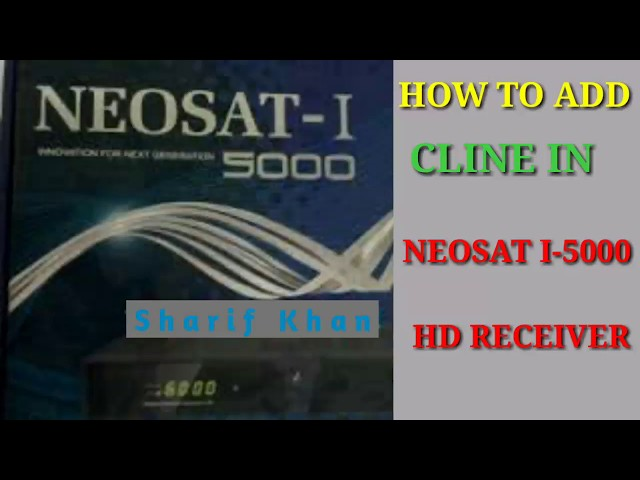 HOW TO OPEN CCCAM OPTION NEOSAT I-5000 HD RECEIVER