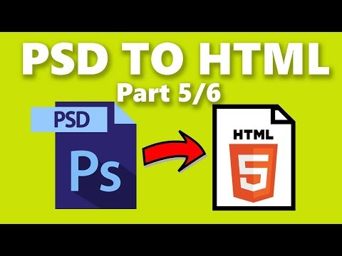 How To Convert Photoshop PSD To HTML Code - Part 5/6