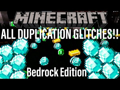 EVERY WORKING Minecraft DUPLICATION GLITCH for BEDROCK EDITION! Village and Pillage 1.12 Xbox PE PC
