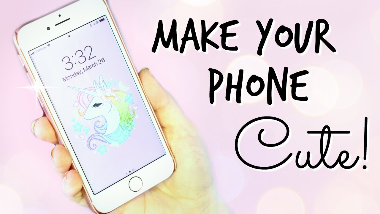 How To Make Your Phone Look Cute Cases Popsockets Wallpapers Cait B Youtube