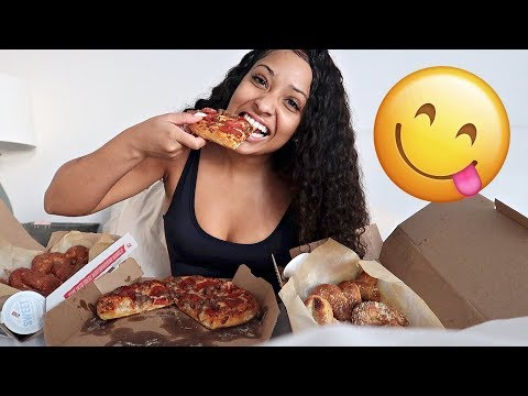 PIZZA MUKBANG + I GOT SUSPENDED FROM SCHOOL STORY TIME!