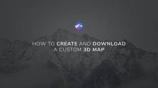 How to create and download a custom 3D map online - 3D-Mapper.com