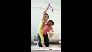 Daily Stretching For Splits At 2 Years Old. My Little Gymnast