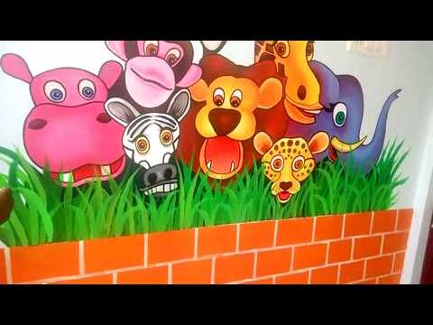 Wall art paintings -kindergarten school at madurai