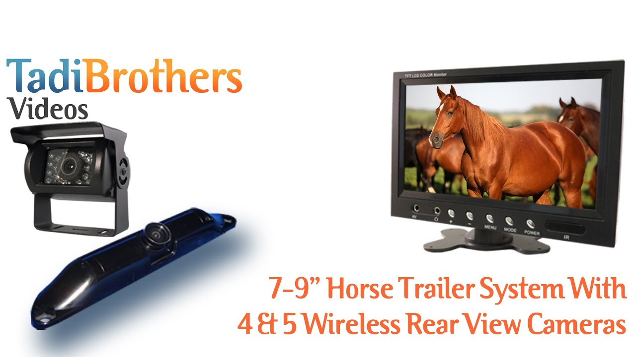 Wireless Horse Trailer Rear View Camera Systems - YouTube