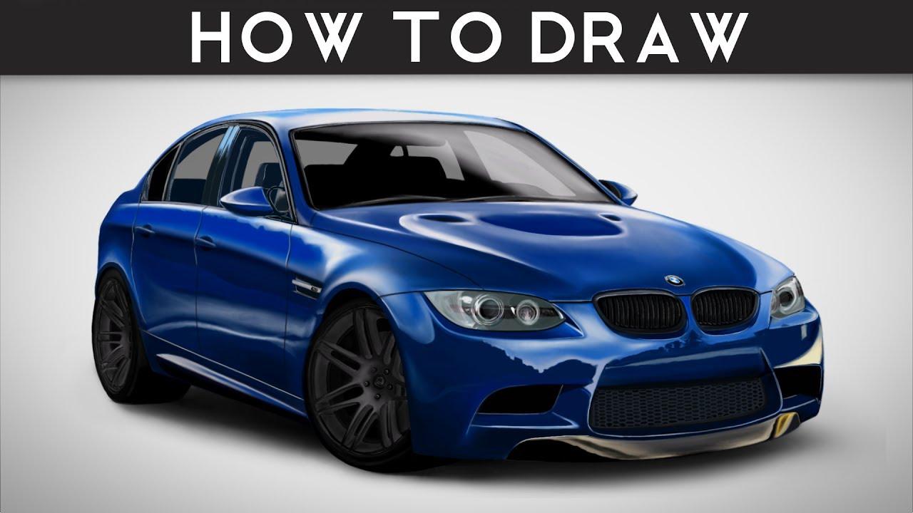 HOW TO DRAW A BMW M3 E90 Spencer Berke Step By Step