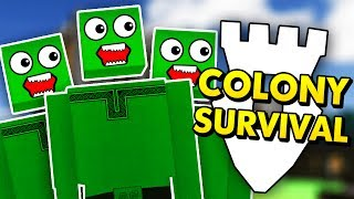 COLONY SURVIVAL FROM THE ZOMBIE APOCALYPSE! (Colony Survival Funny Gameplay)