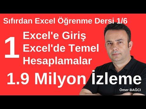 Sıfırdan #Excel Dersleri 1.Ders, Excel'e Giriş ve Temel Hesaplamalar- 705.video | Ömer BAĞCI