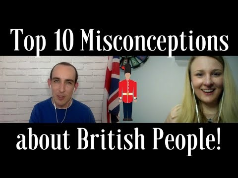 Top 10 Misconceptions about British People (English listening practice with subtitles)