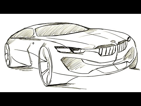 How To Draw Bmw I8 Youtube