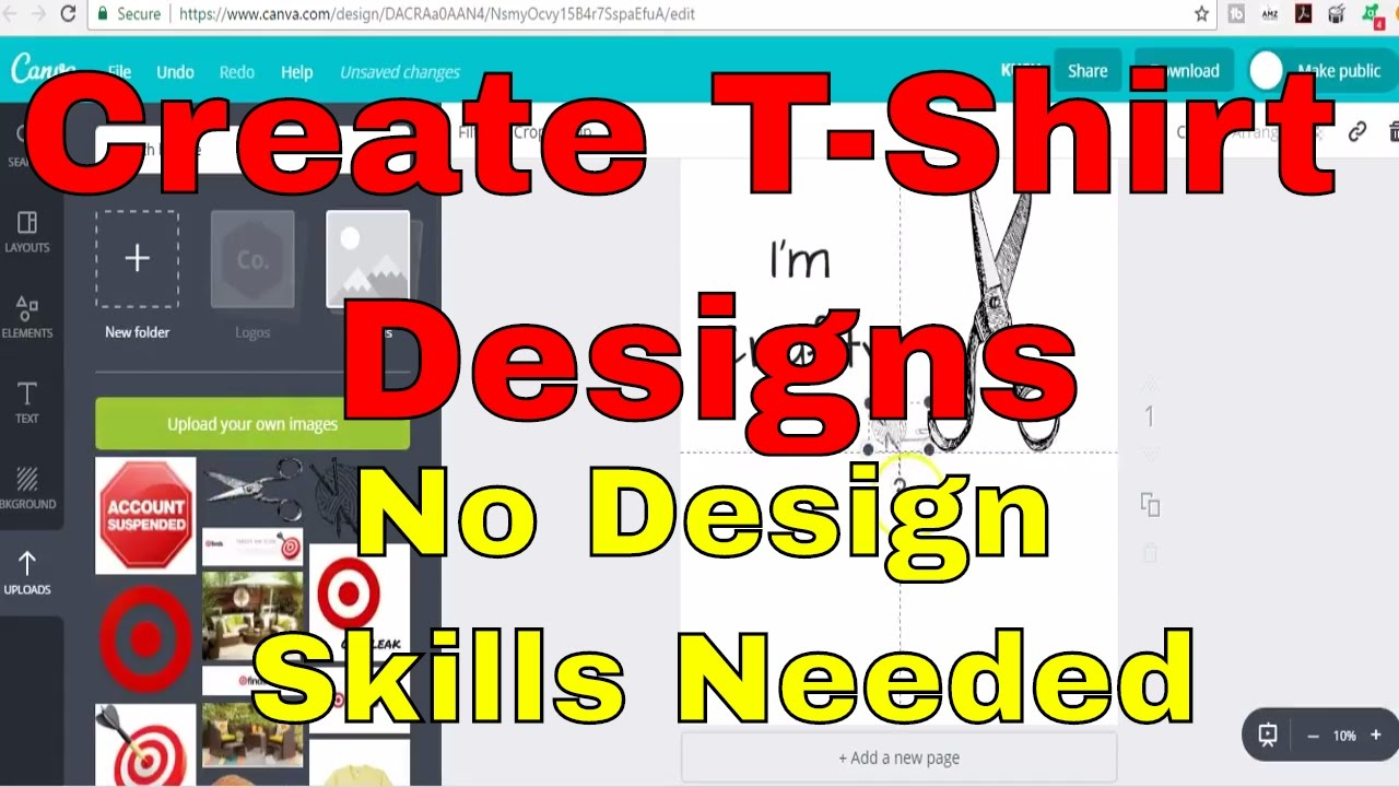 Design t shirts software download free - How To Design Amazon Merch Or Shopify Shirts With No Graphic Design Skills Using Free Programs