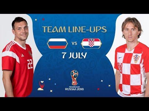 LINEUPS – RUSSIA V CROATIA - MATCH 59 @ 2018 FIFA World Cup™