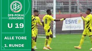 Nächste Moukoko-Show & direkt verwandelte Ecke | Alle Tore im A-Junioren DFB-Pokal | 1. Runde