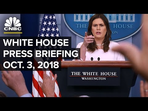 White House Holds Daily Press Briefing - Oct. 3, 2018