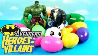 Imaginext Batman Toys & Avengers Toys - Heroes & Villains Surprise Eggs Game #2 by KidCity