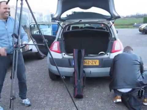 Alles voorbereiden opnames video clip te Wanneperveen