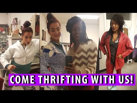 Blazers, Vintage, & Shenanigans at Catholic Charities|Come Thrifting With Us!|#ThriftersAnonymous