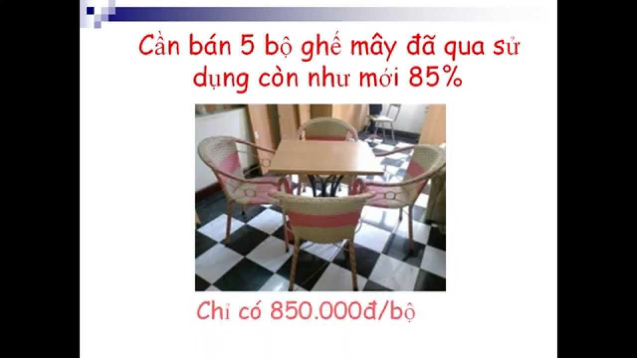 Mua ban ghế cafe cũ – thanh lý bàn ghế cafe giá rẻ 0937486339
