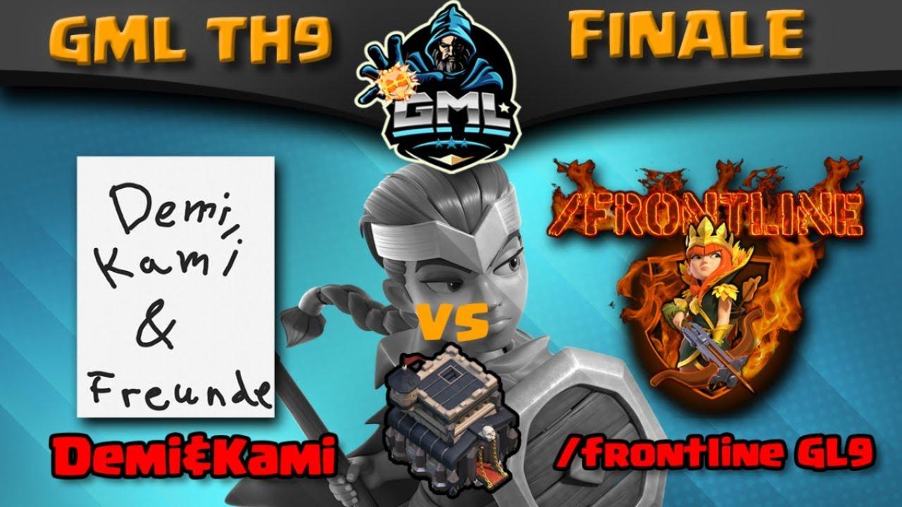 GML Rh 9 Finale   Demi + Kami vs Frontline   Davor Clankriegsliga Rückblick   Clash of Clans