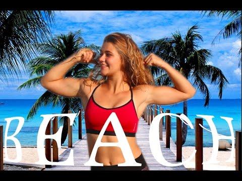 Beach Fitness in Florida I Leg day I Armelle Cerdan
