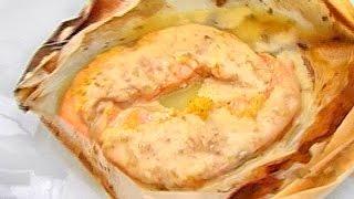 Печеный лосось с лимоном.