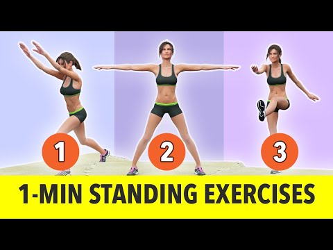1-Minute Standing Exercises No Jumping Weight Loss Workout