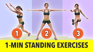 1-Minute Standing Exercises - No Jumping - Weight Loss Workout