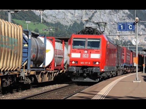 Eisenbahnverkehr am Gottard: Die BR 185 von DB Cargo