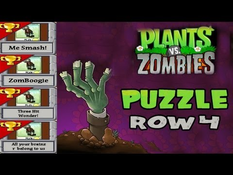 Plants V. Zombies [HD] [4] [Puzzle] - Row 4