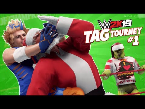K-City vs The Grinch and Santa Claus | WWE 2k19 TAG Tourney #1 | K-City GAMING |
