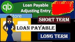 QuickBooks Pro 2019 Loan Payable  Adjusting Entry Short Term Loan u