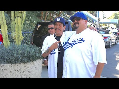 Tough Guy Danny Trejo Shows His Soft Side At The Dodgers Game