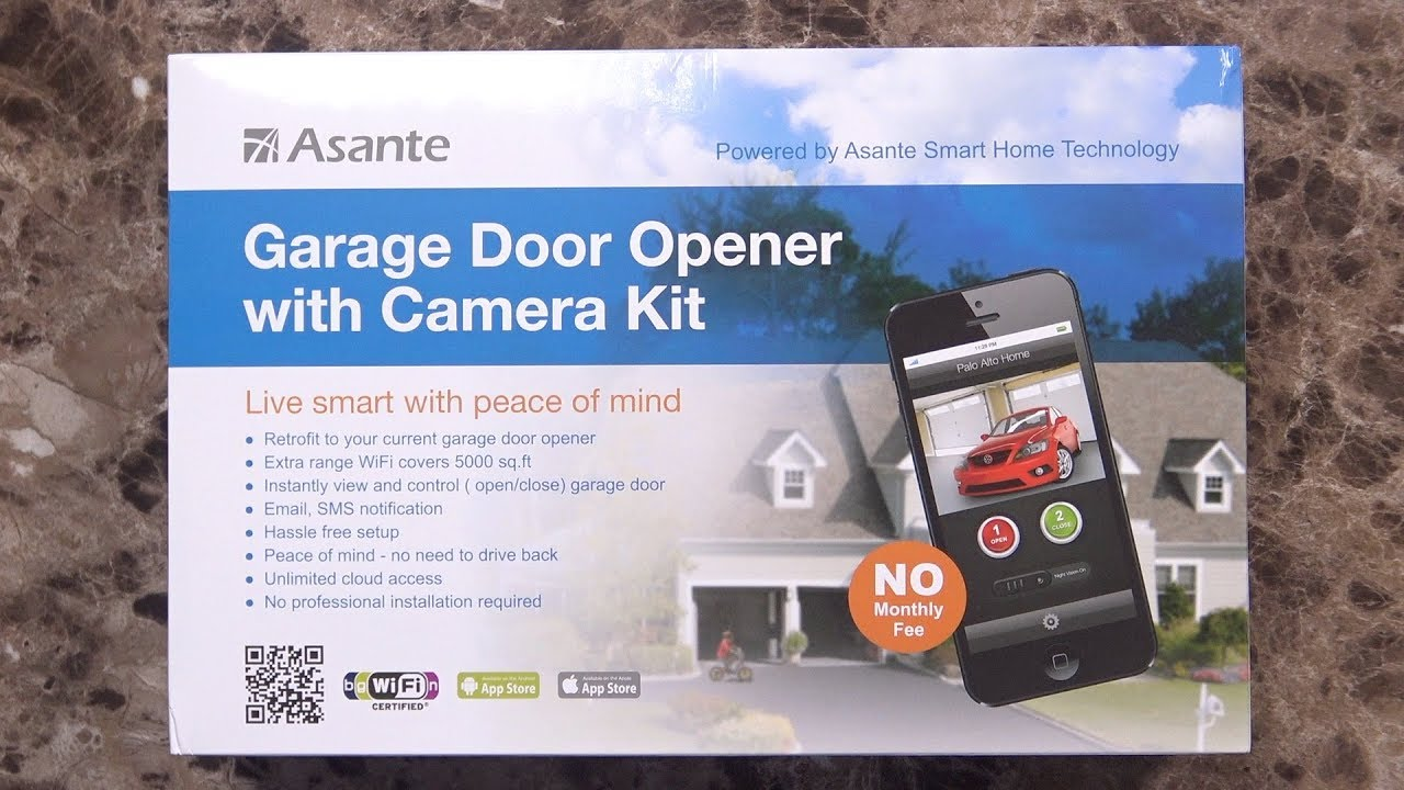 Open Your Garage Door With A Phone Asante Garage Door Opener With