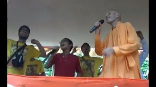 ISKCON 46TH. Kolkata 'Rath Yatra' 2017 (Part 2 Of 4) - Enthralling Music Of 'Hare Rama Hare Krishna'