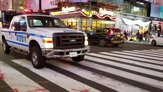 NYPD Patrol Borough Midtown North Passing By On West 42nd Street In Times Square