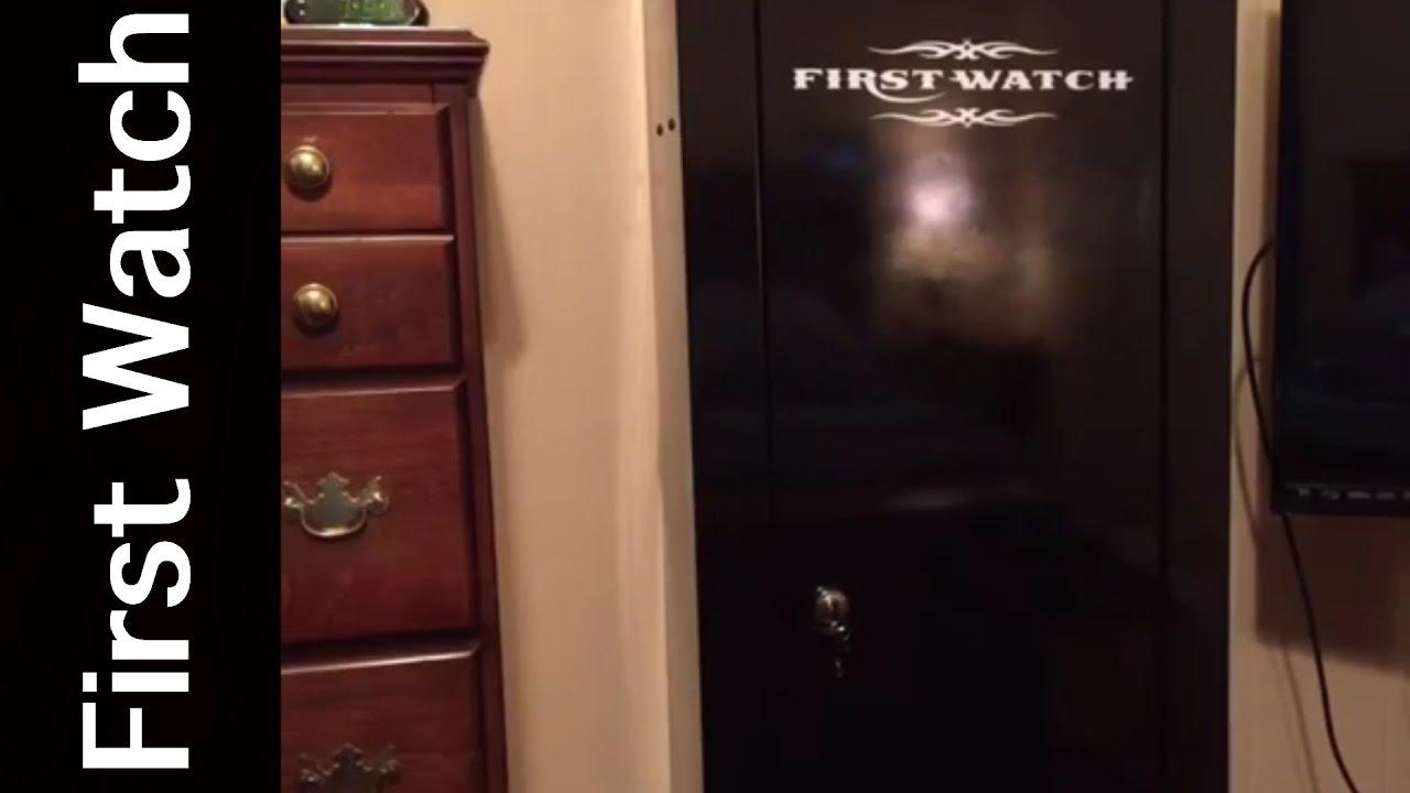 HOMAK SECURITY 8 GUN SAFE..FIRST WATCH GUN CABINET - YouTube