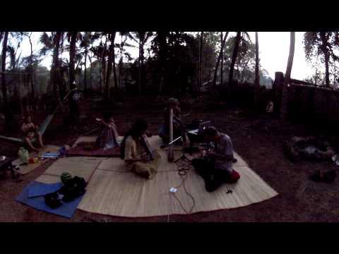 Mandolin & Sarangi at the Coconut Garden. India. January 2013