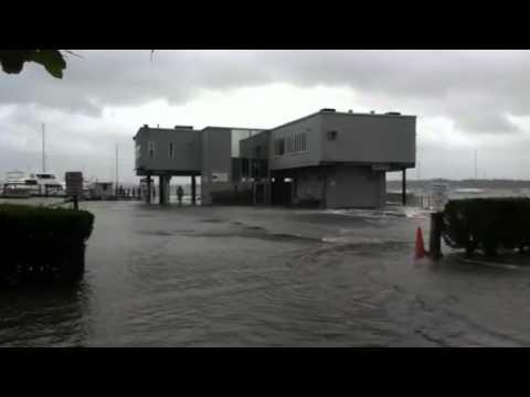 Hurricane Irene hits Rhode Island Yachtclub in Cranston.
