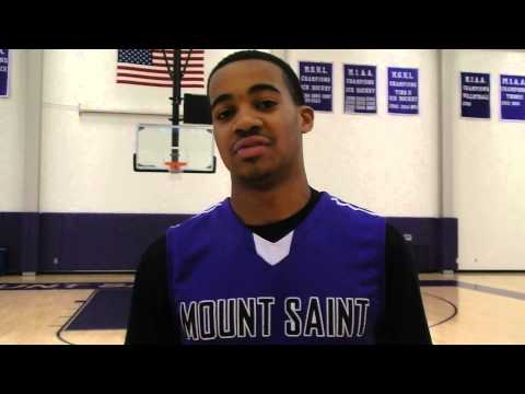 Mount St. Joseph guard Phil Booth  201314 VSN's Boys' Basketball Player of the Year