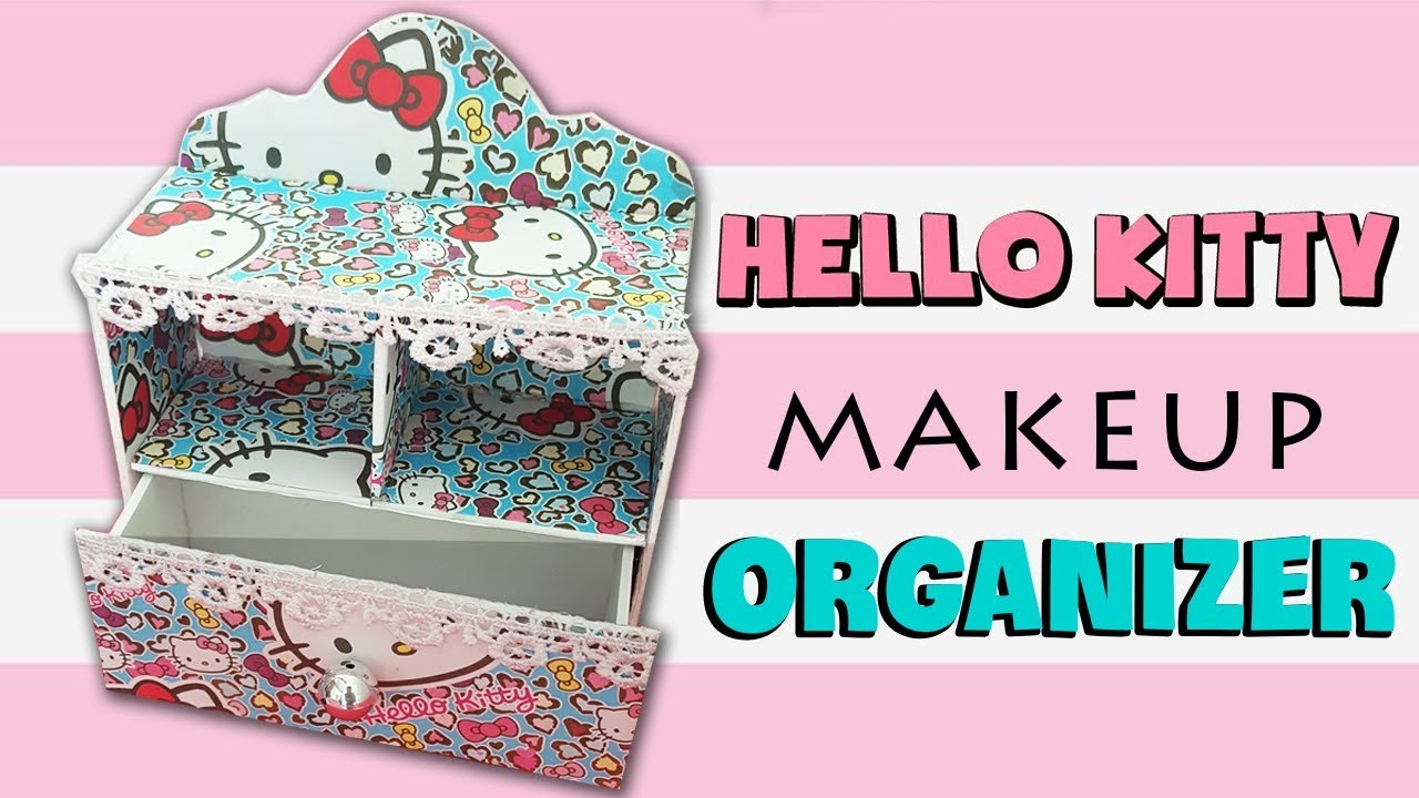 Diy Makeup Storage And Organization O Kitty Desk Organizer Cardboard 2