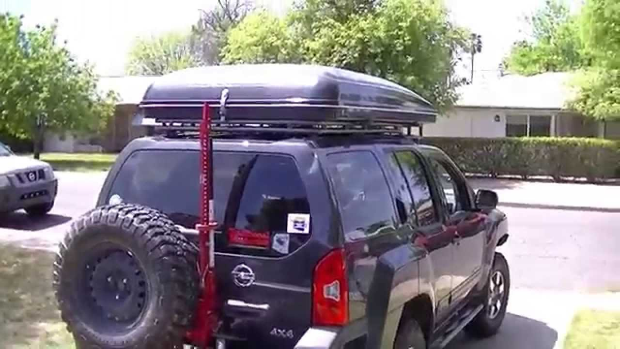& Maggiolina AirTop Tent on Xoskel Roof Rack Nissan Xterra - YouTube