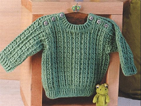 Crochet Patterns For Free Crochet Baby Sweater 1687 Youtube