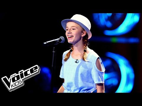 "Michalina Porszke – ""I Have Nothing"" – Przesłuchania w ciemno – The Voice Kids Poland"